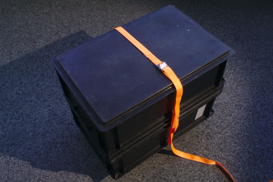 black cargo box enclosure